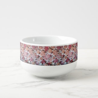 VINTAGE RETRO ROSE PATTERN FOR SOUP MUG