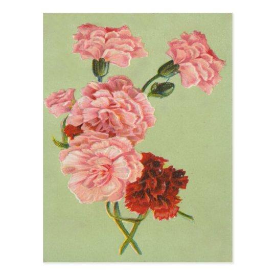 Vintage Retro Roses Postcard