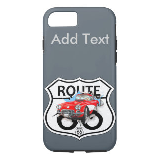 Vintage Retro Route US 66 iPhone 7 Cases