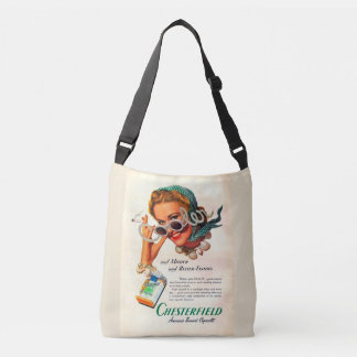 Vintage Retro Smokin' Shoulder Tote
