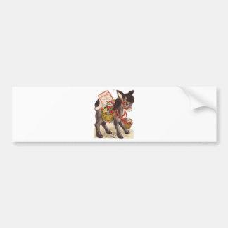 Vintage Retro Sweet Little Donkey Valentine's Day Bumper Sticker