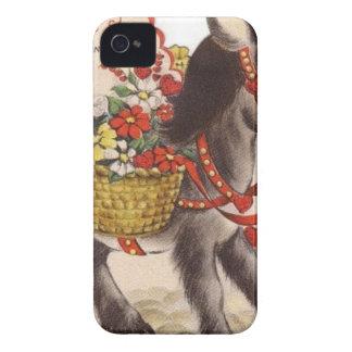 Vintage Retro Sweet Little Donkey Valentine's Day iPhone 4 Case