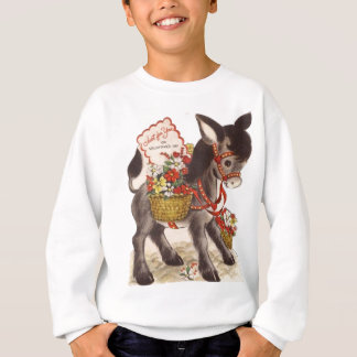 Vintage Retro Sweet Little Donkey Valentine's Day Sweatshirt