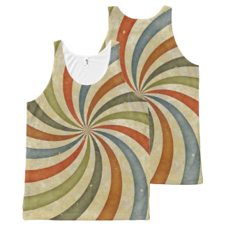 Vintage retro swirls All-Over-Print tank top