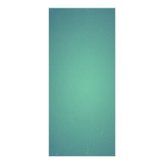 Vintage Retro Teal BlueGreen Turquoise Promotional Rack Card Design