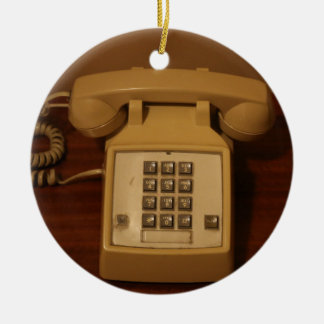 Vintage Retro Telephone Ceramic Ornament