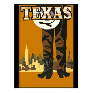 Vintage Retro Texas Cowboy America Travel Tourism Postcard