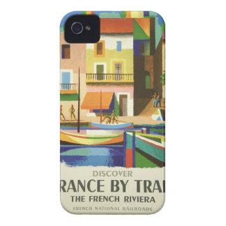 Vintage Retro Travel Poster Art Case-Mate iPhone 4 Cases