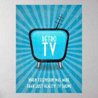 Vintage Retro TV Television Poster