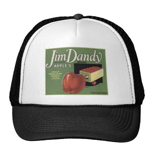 Vintage Retro Vegetable and Fruit Crate Label Tees Mesh Hat