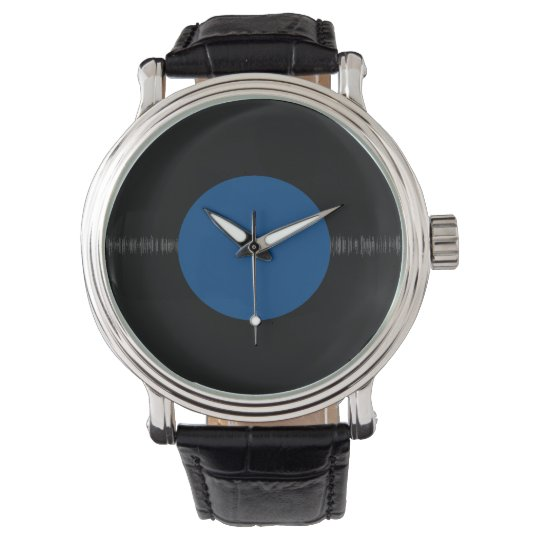 Vintage Retro Vinyl Record (Blue) Watch
