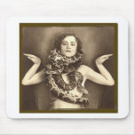 Vintage Retro Women Sideshow Snake Charmer Mouse Pad