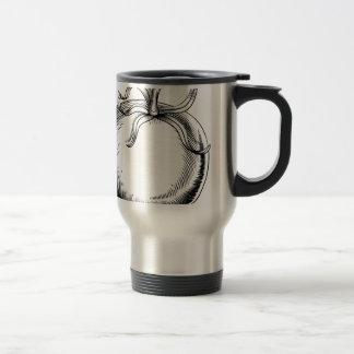 Vintage retro woodcut tomato mug