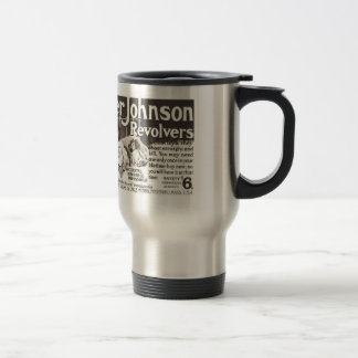 Vintage Revolver Ad  Don't Try This At Home 15 Oz Stainless Steel Travel Mug