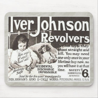 Vintage Revolver Ad Don't Try This At Home Mouse Pad