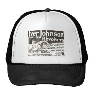 Vintage Revolver Ad  Don't Try This At Home Trucker Hat