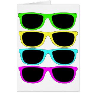 Vintage Rgb Fluo Sunglasses Greeting Card