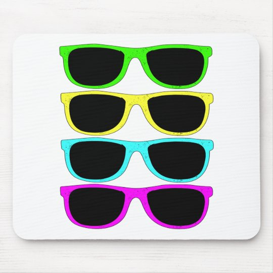 Vintage Rgb Fluo Sunglasses Mouse Pad