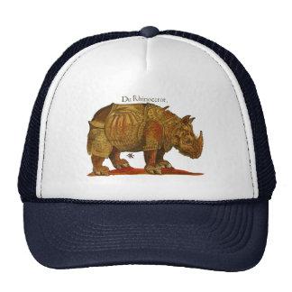 Vintage Rhino Woodcut Print - Durer s Rhinoceros Trucker Hats