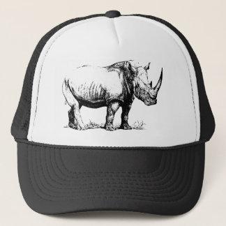 Vintage Rhinoceros Illustration, Animal Trucker Hat