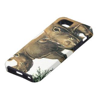 Vintage Rhinos or Rhinoceros, Wild Jungle Animals iPhone 5 Cases