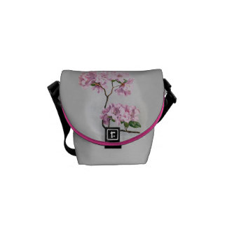 Vintage Rhododendrons Graphic Messenger Bag