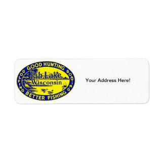 Vintage Rib Lake Wisconsin Return Address Label