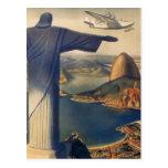 Vintage Rio De Janeiro, Christ the Redeemer Statue Post Card