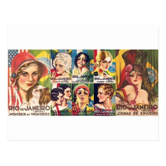 Vintage Rio de Janeiro Collection Postcard