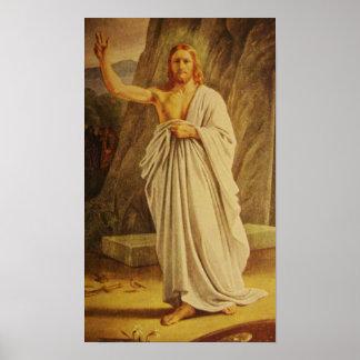 Vintage Risen Christ Jesus Christ Easter Poster