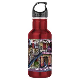 Vintage River Street, Savannah, Georgia Photo 532 Ml Water Bottle