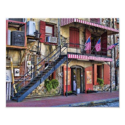 Vintage River Street, Savannah, Georgia Photo Art