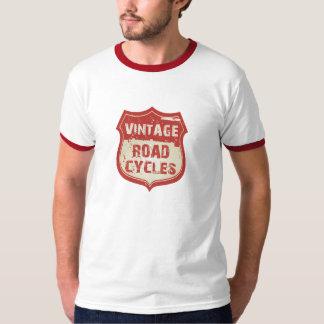 Vintage Road Cycles Logo - Ringer Shirt