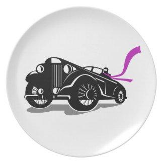 Vintage Roadster Scarf Retro Plate