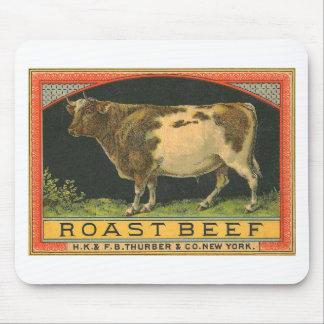 Vintage Roast Beef Advertisement Mouse Mats