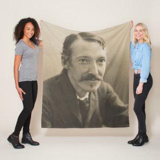 Vintage Robert Louis Stevenson Photo Portrait Fleece Blanket