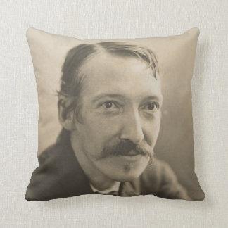 Vintage Robert Louis Stevenson Photo Portrait Throw Pillow