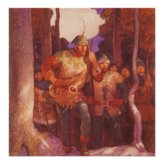 Vintage Robin Hood and His Merry Men by NC Wyeth Poster