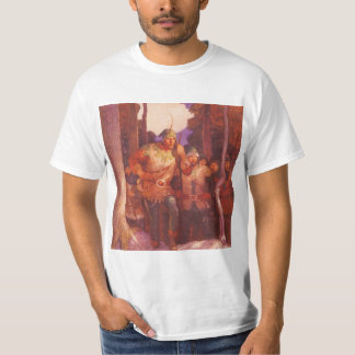 Vintage Robin Hood and His Merry Men by NC Wyeth T-Shirt