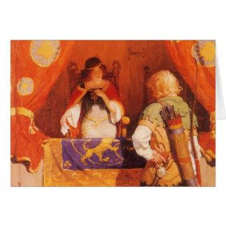 Vintage Robin Hood Meets Maid Marian by NC Wyeth Card