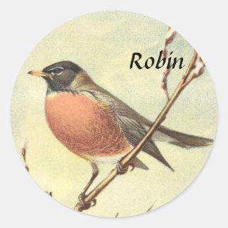 Vintage Robin Stickers