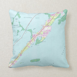 Vintage Rock Harbor Florida Map (1947) Throw Pillow