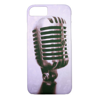 vintage rock n roll microphone style phone case