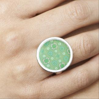 Vintage Rockabilly Bandanna Mint Retro Jewelry Rings