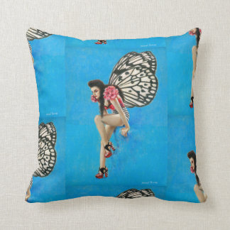 Vintage Rockabilly Fairy Square Throw Cushion