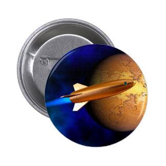 vintage rocket 2 inch round button