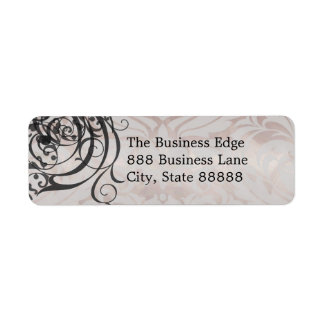 Vintage Rococo Champagne Business  Address Label