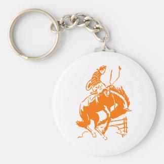 VIntage Rodeo Basic Round Button Keychain