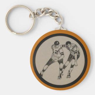 Vintage Roller Derby Basic Round Button Keychain