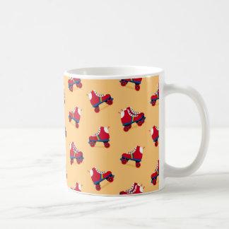 Vintage Roller Skate Pattern Coffee Mug